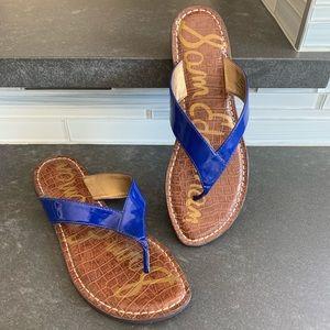 SAM EDELMAN Blue Flip Flops